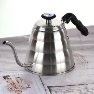 Image 5 - Капельный чайник V60 из нержавеющей стали 304 объемом 1200 мл с термометром, залейте в кастрюлю с длинным носиком гусиная шея, Кофеварка