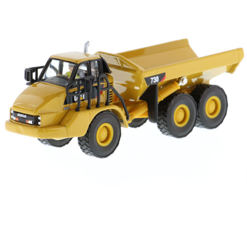 1/87 Scale CAT 730 Articulated Dump Truck Simulated Transport Alloy Vehicle Diecast 85130 For Children Toy Model Gift Collection