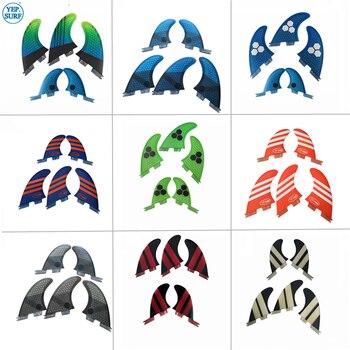 Surf FCSII G5+GL Surfboard Blue/Orange/Gray/Green/Red color Honeycomb Fins Tri-quad fin set FCS 2 Fin Hot Sell FCS II Fin