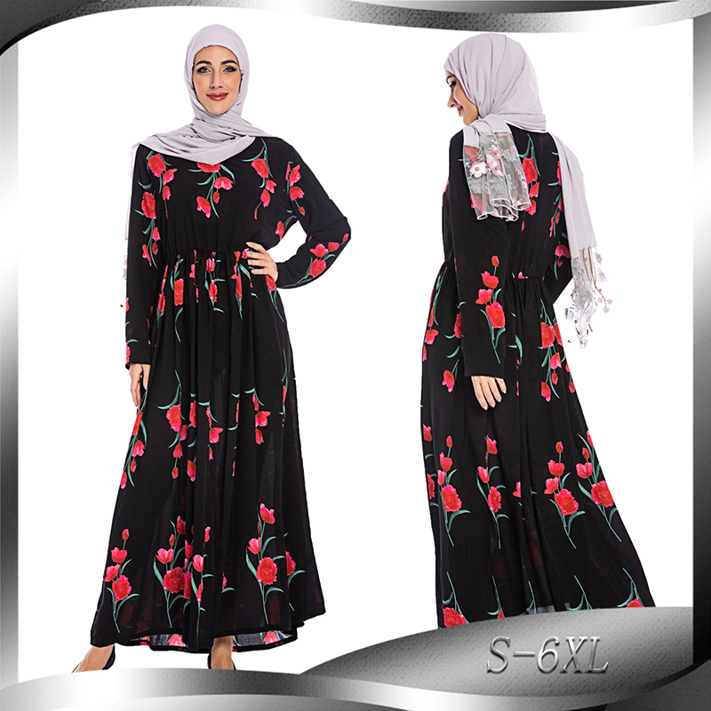 Plus Size 6XL Vestidos Long Abaya Turkey Islamic Arabic Hijab Muslim Dress Caftan Dubai Kaftan Tesettur Elbise Robe Musulmane