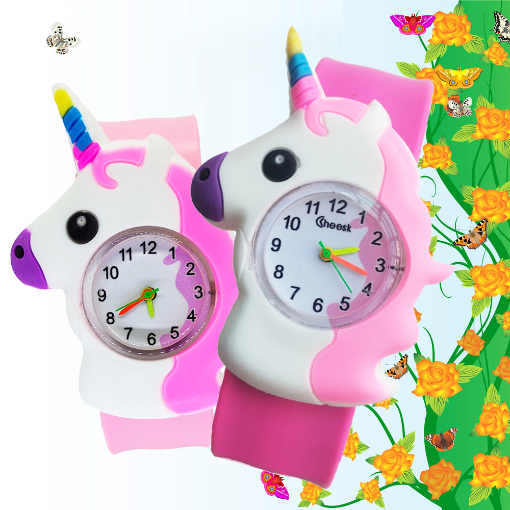 Patted Wrist Watch Baby Toys Horse Pattern Kids Watches Boys Girls Watch LED Electronic Sports Children Watch Hour Student Clock