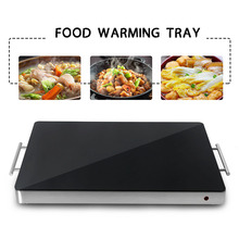 400W Warming Tray Electric Hot Plate Constant Temperature Heating Machine Buffet Chafing Dishes Thermal Insulation Tray dz 2 warming lamp 2 head lamp hotel buffet professional heating machine