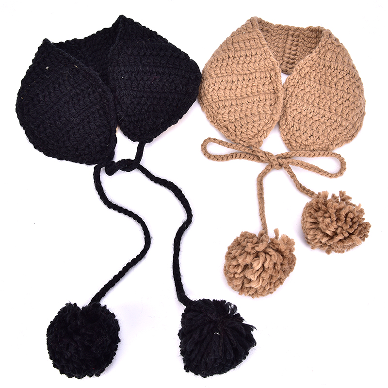Hot New Vintage Wool Ear Covers Cute Warm Knit  Autumn Winter Girls Head Wear Accessories Solid Color With Ball Earmuffs