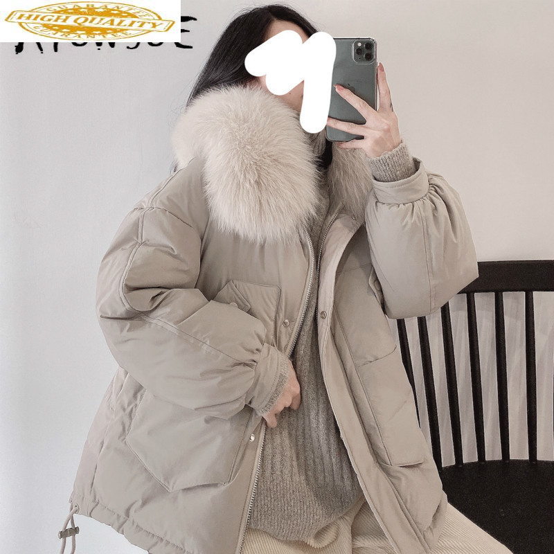 90% White Duck Down Jacket Women Clothes 2019 Winter Coat Women Fox Fur Collar Korean Puffer Jacket Women Parka UY9801 YY2147