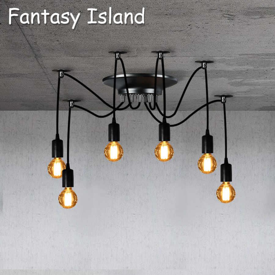 Spinne Anhänger Licht Retro anhänger Lampe Nordic Decke lampe LED Industrie hängenden lampen wohnzimmer restaurant Cafe dekoration