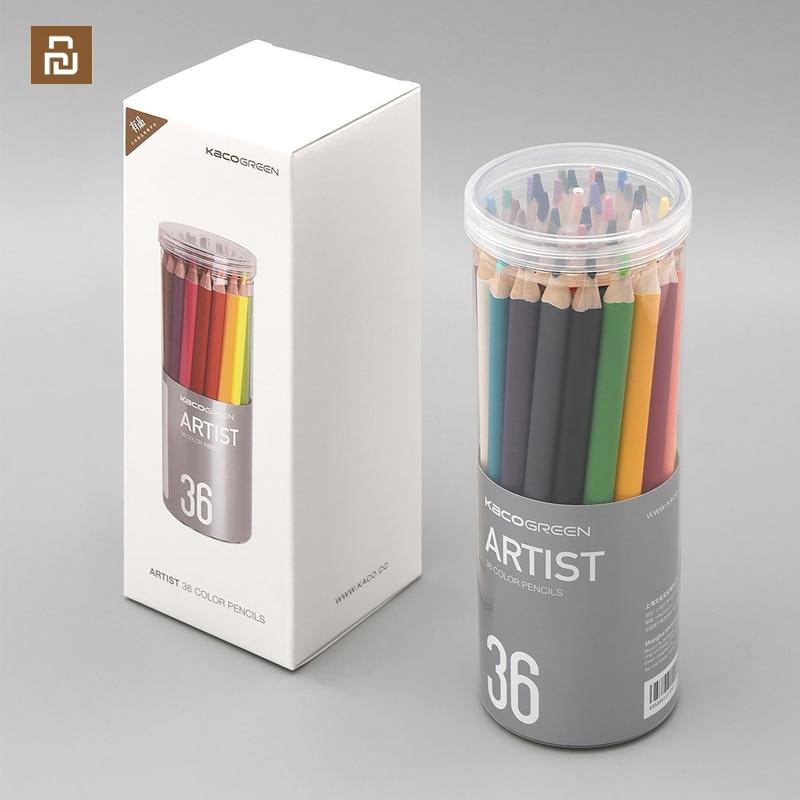 novo youpin kaco arte cor 36 cor lapis cores brilhantes grosso chumbo nucleo nao e facil