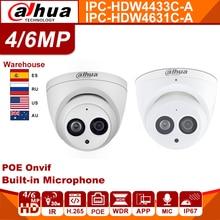 Dahua IPC-HDW4433C-A IPC-HDW4631C-A 4MP 6MP caméra réseau IP caméra WebCam powerby POE CCTV sécurité intégré micro IR 30M 50M H.265