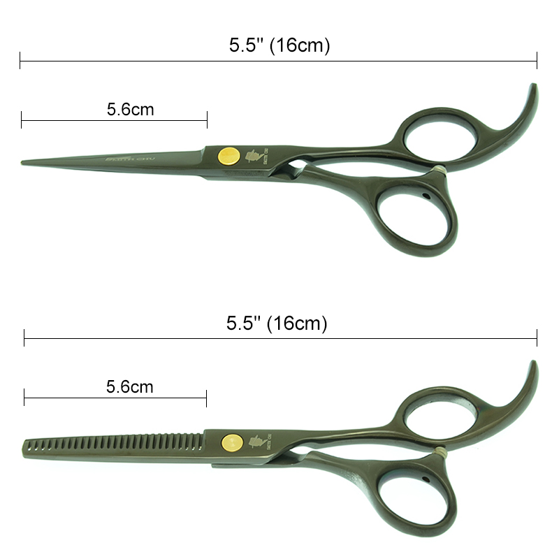 "Купить с кэшбэком 5.5"" Salon Hair Shears Professional Barbers Hair Cutting Scissors Japan 440c Hairdressing Thinning Scissors Smith Chu A0012C"