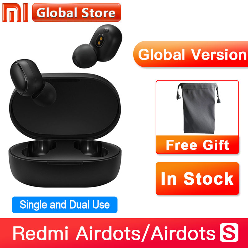 Global Version Xiaomi Redmi Airdots S TWS Bluetooth Earphone Stereo bass BT 5.0 Eeadphones With Mic Handsfree Earbuds AI Control|Phone Earphones & Headphones|   - AliExpress