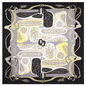 Image 3 - 2020 Nuova Cinghia Paisley Sciarpa Quadrata di Lusso di Marca 100% Twill di Seta Della Sciarpa Della Donna Bandana Fazzoletto Scialle Sciarpe per La Signora