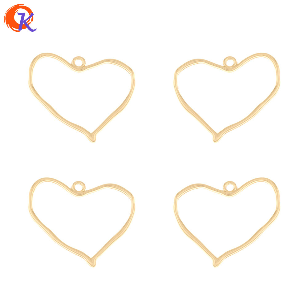 Cordial Design 100Pcs 30*34MM Jewelry Accessories/Charms/Earrings Connectors/Heart Shape/Hand Made/DIY Making/Earring Findings