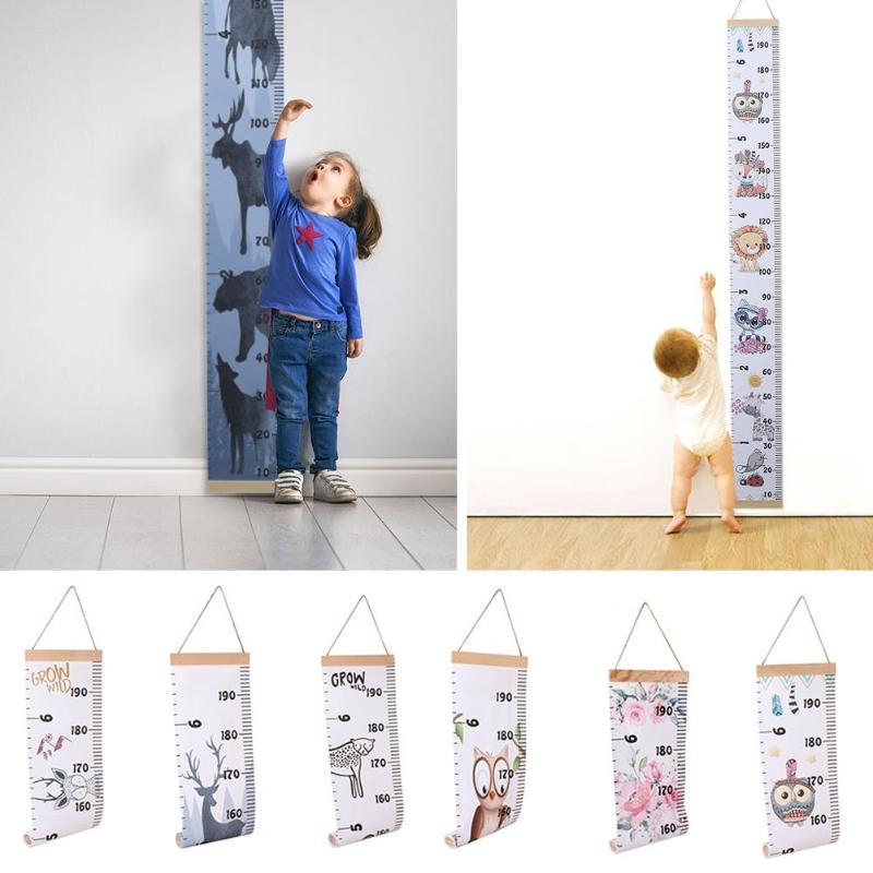 Baby Child Kids Height Measure Ruler Simple Creativity Memorial Of Infant Growth Decorative Growth Charts Removable Hanger