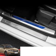 Lsrtw2017 Stainless Steel Car Door Sill Threshold Trims for Skoda Octavia 2015 2016 2017 2018 2019 2020 Accessories lsrtw2017 stainless steel car door sill strip threshold trims for skoda octavia 2015 2016 2017 2018 2019 2020