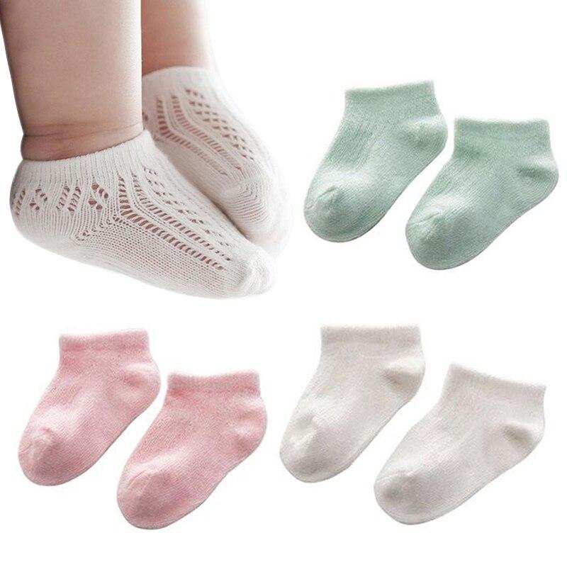 Newborn Baby Socks Infant Toddler Socks Boy Girl Soft Solid Cotton Sock Thin Breathable Mesh Socks Toddlers Spring Autumn Socks