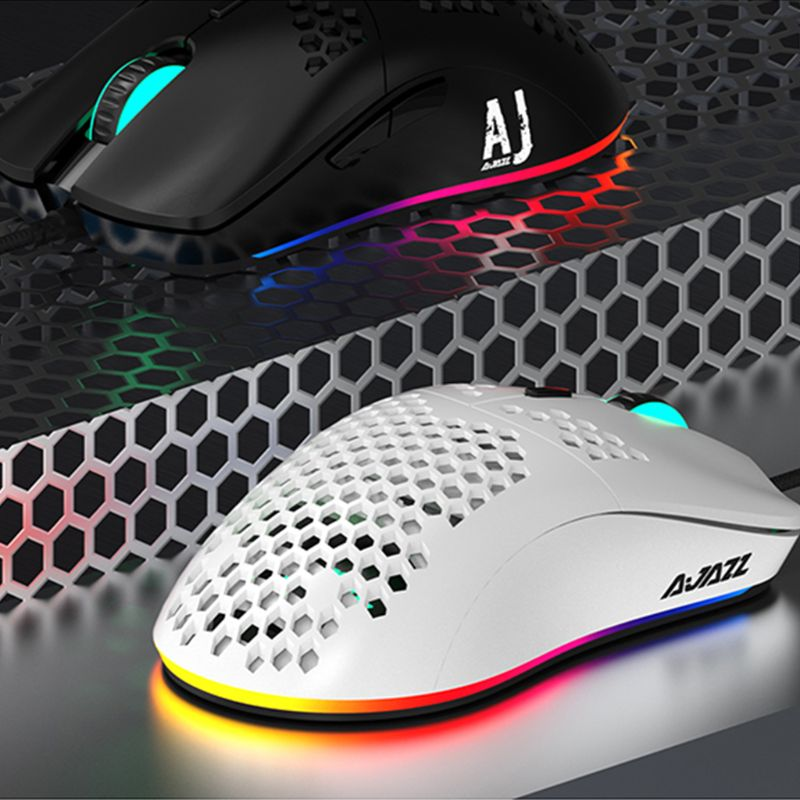AJ390 Light Weight Wired Mouse Hollow-out Gaming Mouce Mice 6 DPI Adjustable For Windows 2000/XP/Vista/7/8/10 Systems
