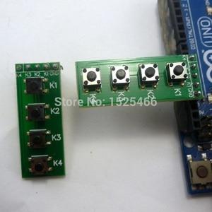 Матрица для клавиатуры с 4 клавишами mcu, 2 шт., для Arduino UNO MEGA2560 DUE button raspberry pi банан pi макетная плата, переключатель FPGA CPLD STM32