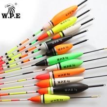 W.p.e marca 5 pçs/lote alta qualidade eva espuma pesca flutuador 2g-7g equipamento de pesca bóia bobber carpa pesca multicolorido 16.5cm-21cm
