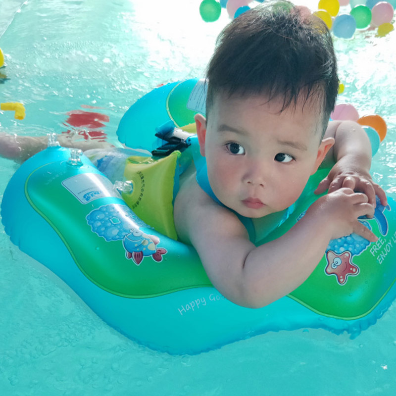 Inflatable Child Baby Swimming Ring Kids Float Swim Trainer Water Mattress Toys Gifts Bathing Can Holder Pool Accessories