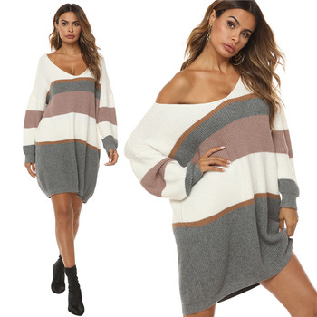 Women Long Sleeve Sweater 2020 New Autumn Pullovers and Sweaters Women's Knitted Winter Clothes Casual Ladies Striped Pullover 2019 new women sweaters and pullovers autumn winter long sleeve pull femme striped pullover female casual knitted sweater