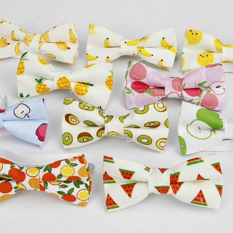 Classic Baby Kid Bow Ties Boy Children Pre Tie Tuxedo Bowties Pet Banana Print Cute Students Child Necktie Butterfly 14Colors