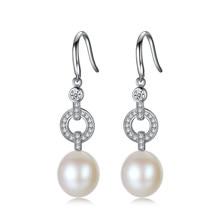YUEYIN 925 Sterling Silver Earrings 10-11mm Freshwater Pearl Earrings Dangle Earrings for Women Party Jewelry Bohemian Jewelry daimi shining pink keshi pearl earrings 10 11mm asymmetrical earrings elegant 925 silver earrings