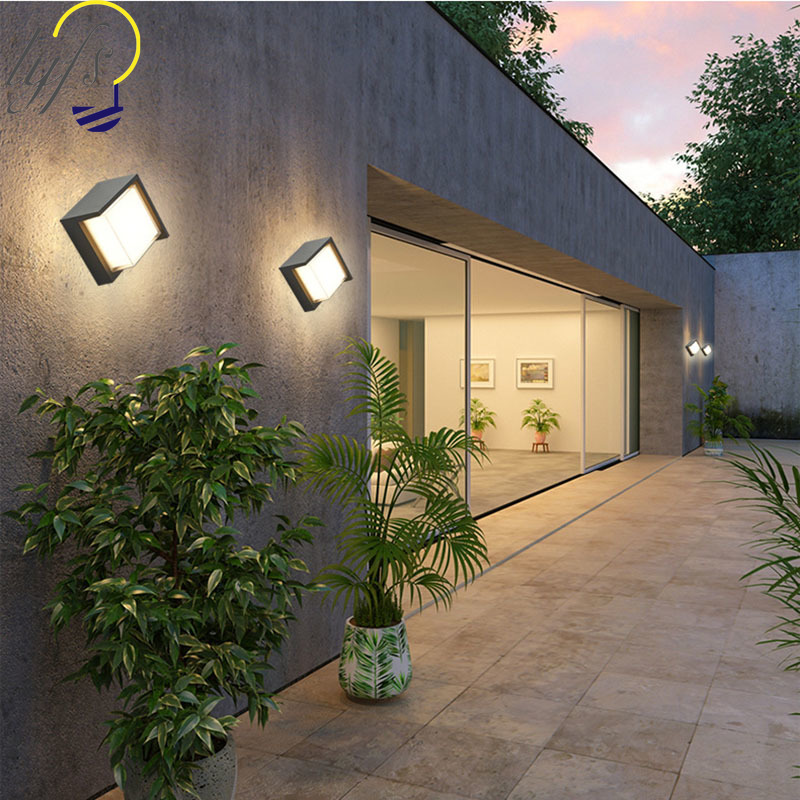 Outdoor Led Wall Lamp Villa Courtyard Gate Exterior Wall Lamp | Staircase Exterior Wall Design | Commercial | Entrance Ceiling | Interior | Modern | Boundary Wall