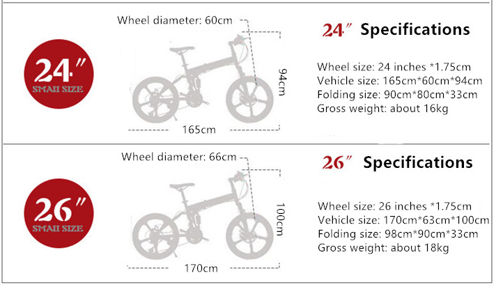 Foldable Ultra-Lightweight Mountain Bike 4-Variable Speeds Dual Brake Folding Bicycle For Student Man And Women Adult Bike