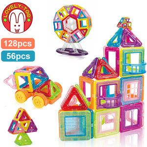 Constructor-Toys Magnet Building-Game Designer Mini Kids Children for Gift Girls Boys