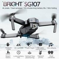 SG107 мини-Дрон с 4K WIFI 1080P FPV камера RC Дрон 2,4 ГГц Квадрокоптер оптическая камера квадрокоптера камера игрушки VS E58 E68
