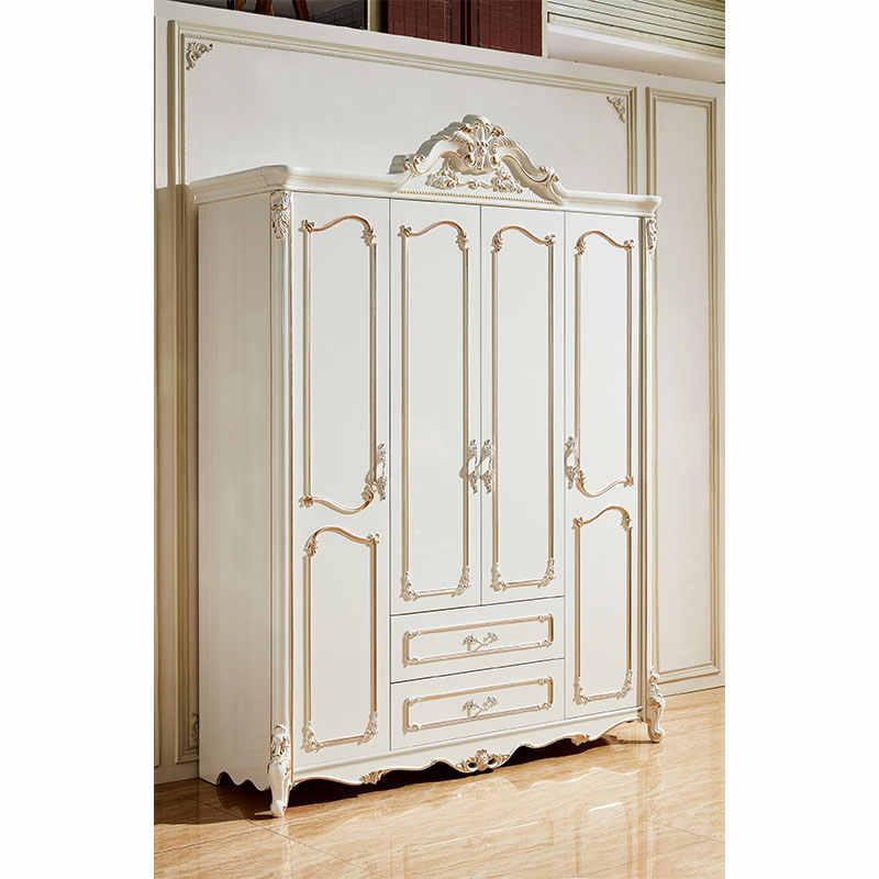 European Style Wardrobe Bedroom Furniture Antique White Hand Carved Wood Closet Sliding Door Classic Wooden Bedroom Wardrobe Bedroom Sets Aliexpress