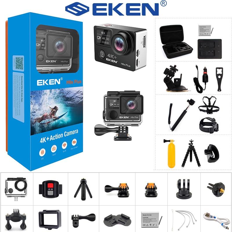 2021 новая Экшн-камера EKEN H6S Plus Ultra HD с чипом Ambarella A12 4K 14 МП EIS 30M Водонепроницаемая спортивная видеокамера с угловым объективом 170