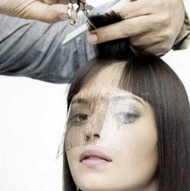 50pcs disposable haircut mask Hairdressing bangs protect shield salon barber dye perm hair styling tools