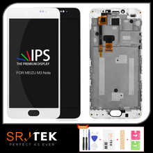 SRJTEK 5.5 For MEIZU M3 Note Glass LCD Display Touch Screen Matrix Digitizer Sensor With Frame For MEIZU M3 Note L681H M681H LCD srjtek 10 1 for chuwi hi10 cw1515 hsctp 747 10 1 v0 lcd display with touch screen digitizer glass sensor replacement new parts