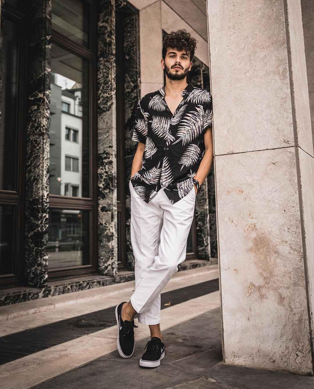 Camisas de vestir de manga corta ajustadas elegantes de lujo Casual a la moda para hombre