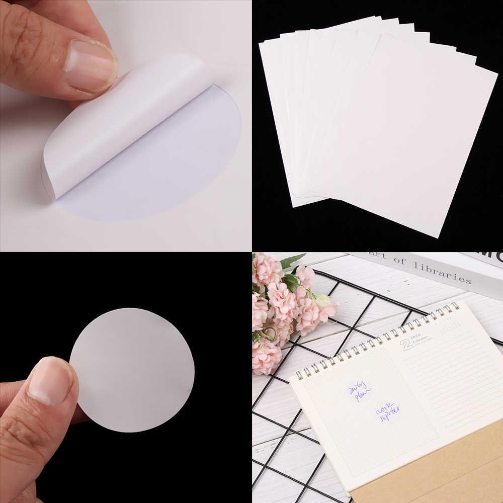 1 แผ่น A4 รอบ Self Adhesive สติกเกอร์ Die-Cut กระดาษป้ายวงกลม A4 สำหรับเลเซอร์หรือ Inkjet เครื่องพิมพ์สติกเกอร์ office School SUPPLY