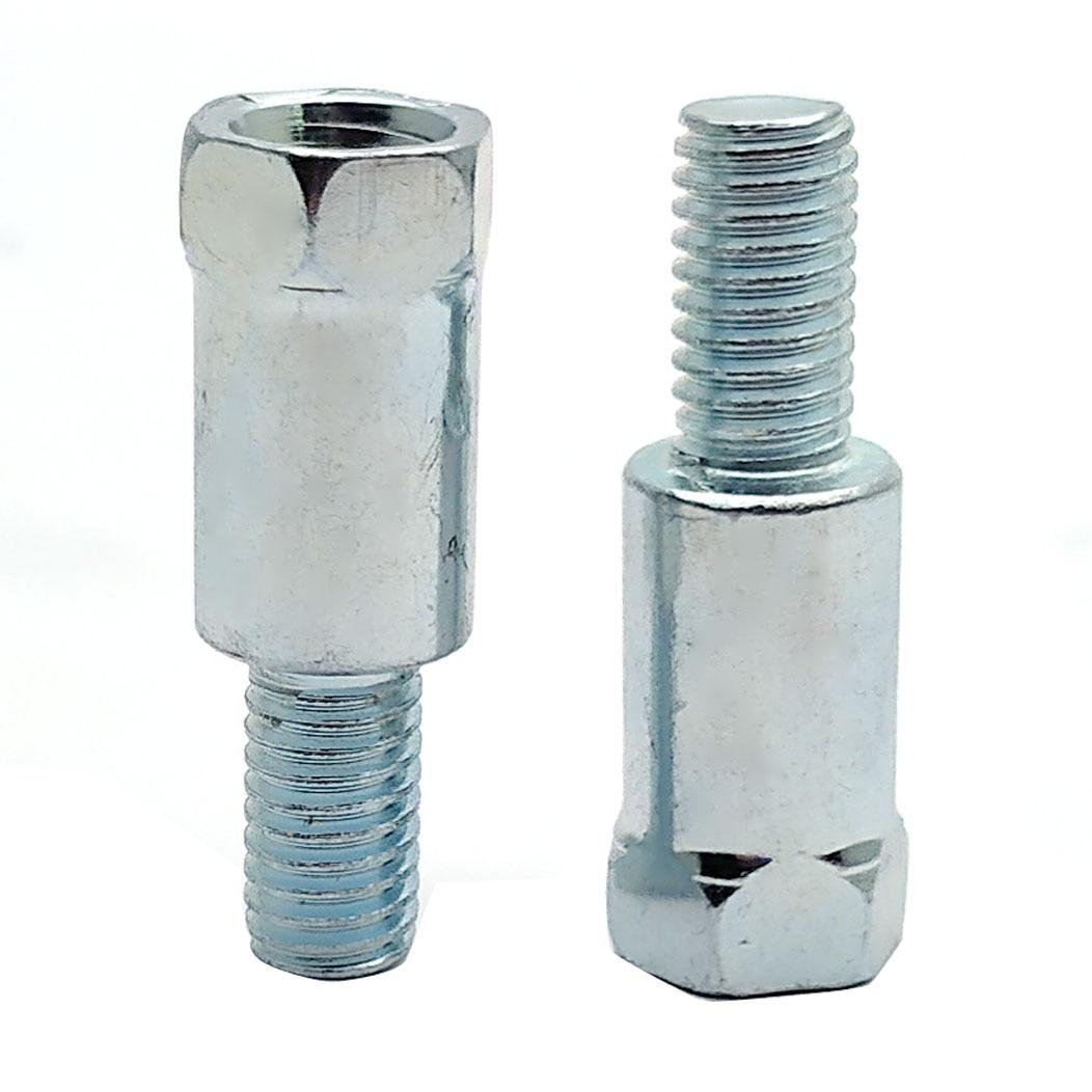 Пара адаптеров для мотоциклетного заднего зеркала M10 10 мм 8 мм M8 против часовой стрелки правая и левая резьба Сменные винты с увеличением