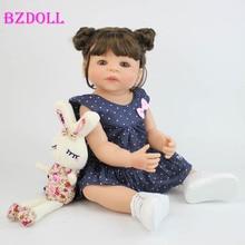 55 см полностью силиконовый виниловый корпус Reborn Girl Lifelike Baby Doll новорожденная принцесса Малыш игрушка Bonecas водонепроницаемый подарок на день рождения