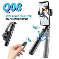 Roreta-obturador con Bluetooth, estabilizador de cardán de mano, palo de selfi para teléfono móvil, soporte inalámbrico ajustable para Selfie para iPhone y Huawei