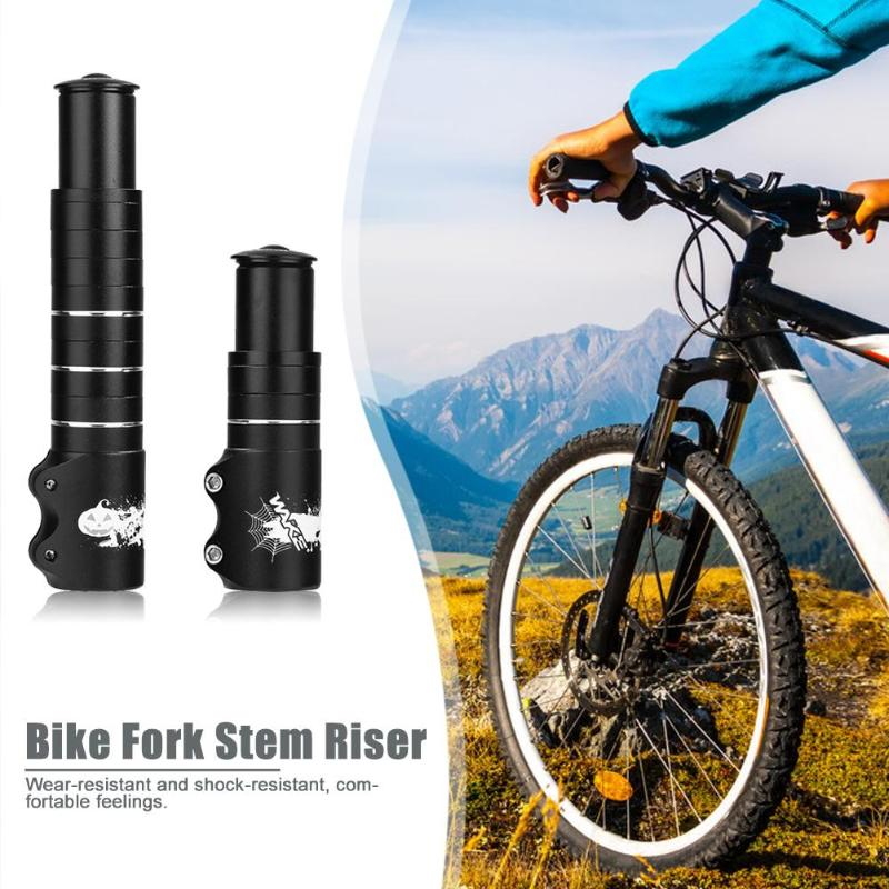 Aluminum Alloy MTB Bike Fork Stem Extender Cycling Handlebar Riser Adapter Bike Fork Stem Riser Bicycle Accessories image