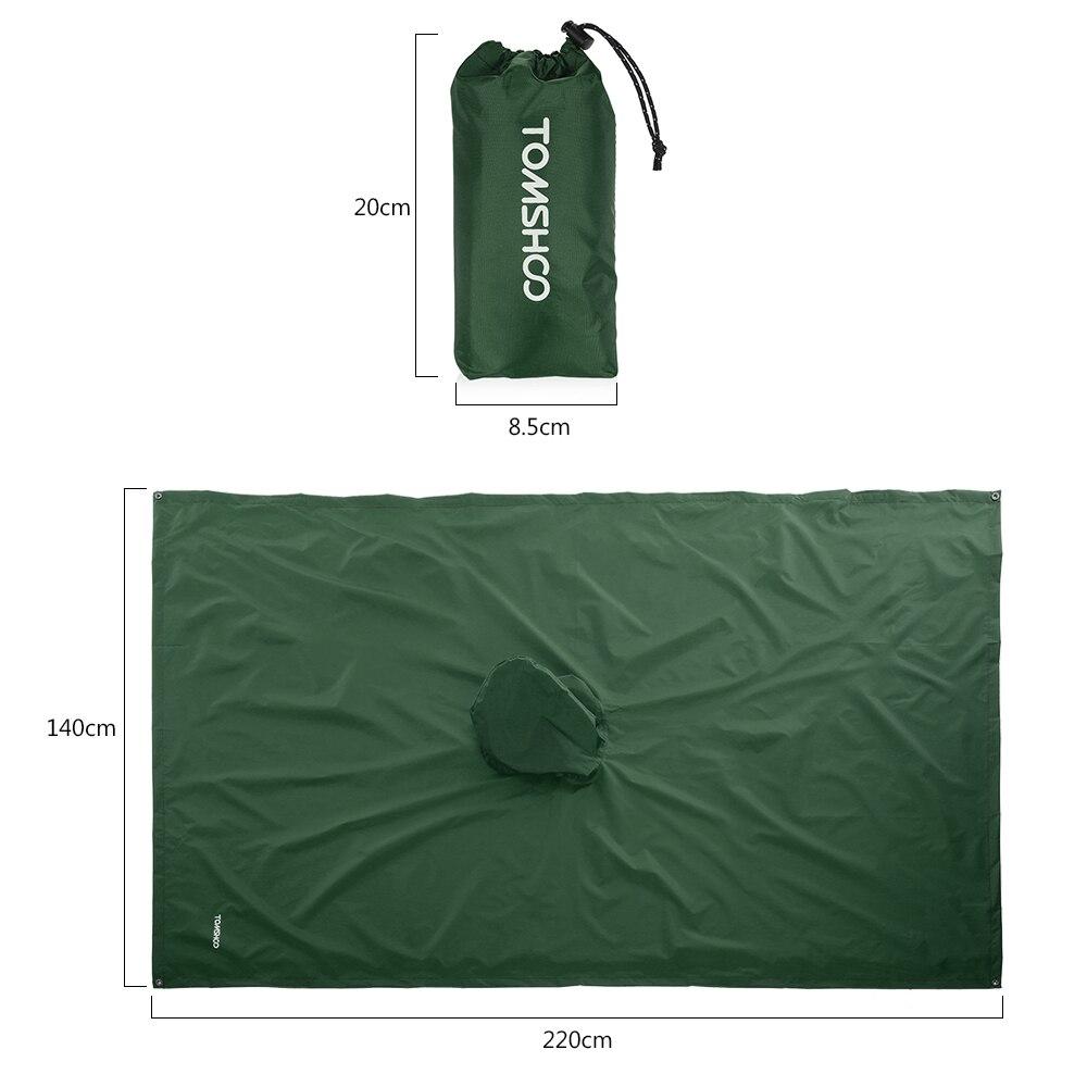 3 в 1 плащ-рюкзак дождевик капюшон для пешего туризма Велоспорт дождевик пончо водонепроницаемый тент для кемпинга коврик для палатки