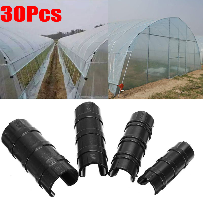 20PCS Greenhouse Frame Pipe Tube and Film Clip Clamp Connector Kit 22mm//25mm//32mm 32mm