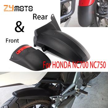 2021 dla HONDA NC700 NC750 S X błotnik motocyklowy przedni tylny Extender Hugger błotnik NC750S NC750X NC700S NC700X NC 750 700 tanie i dobre opinie sconan CN (pochodzenie) 250g 70g Black motorcycle rear fender front rear ABS Plastic For HONDA NC700 S X For HONDA NC750 S X