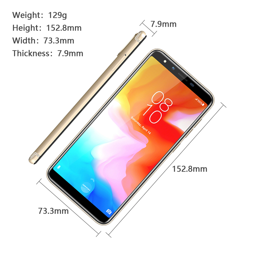 Image 4 - HOMTOM H5 Android 8.1 MT6739 Quad Core FDD LTE 4G Fingerprint unlock Smartphone 3GB 32GB 3300mAh 5.5 inch Face ID Mobile Phone-in Cellphones from Cellphones & Telecommunications
