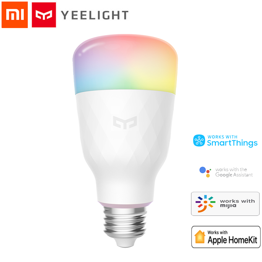Xiaomi Mijia Yeelight 1S YLDP13YL Smart LED Bulb Colorful 800 Lumens 8.5W E27 Lemon Smart Lamp For Mi Smart Home App White/RGB