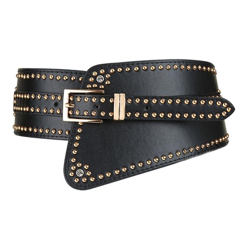 2020 Spring Fashion Belt Trendy Solid Waistband Female Elastic Corset Belt Stylish PU Belts For Women New Design Wide Belt ZK535