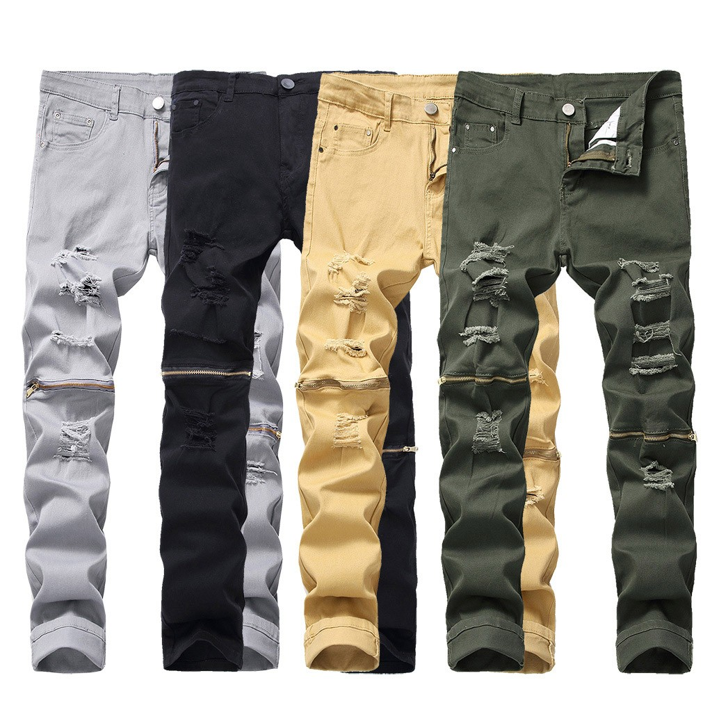 Tactical-Pants Things Pokemon Stretch Elastic Ripped Trousersstranger Men's New-Fashion