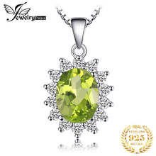 1.81ct Peridot Gemstone Ring Pear Cut Gemstone Pendant Set 925 Solid Sterling Silver 2015 Brand New Vintage Gift Women Jewelry jewelrypalace luxury pear cut 7 4ct created emerald solid 925 sterling silver pendant necklace 45cm chain for women 2018 hot