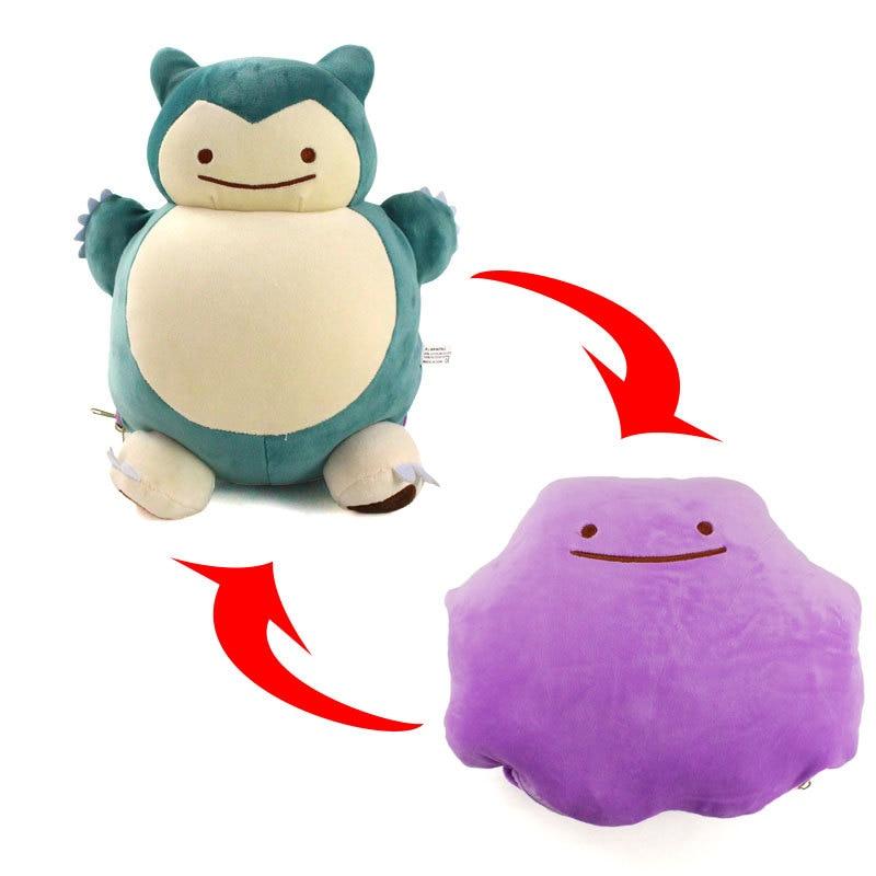 32CM Snorlax Pikachu Ditto Metamon Inside-Out Cushion Plush Bag Purse NEW Dual-use Pillow Stuffed Plush Doll Figure Toys