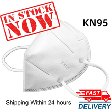Fast Shipping KN95 5 Layers Filtering Facial Face Masks Dustproof Safety Nonwoven Earloop Disposable FFP2 Cover Mouth Dust Mask
