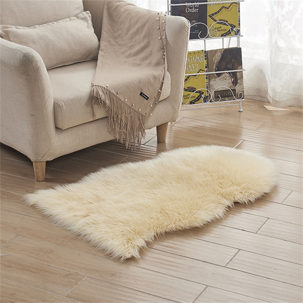 Juneiour Soft Artificial Sheepskin Rug Carpet Chair Cover Artificial Wool Warm Hairy Carpets Skin Fur Area Rugs For Living Room